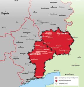 Карта оккупированных территорий. (www.24tv.ua)