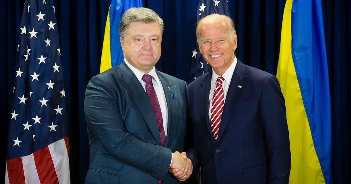 Президент Украины Петр Порошенко и Вице-президент США Джо Байден.