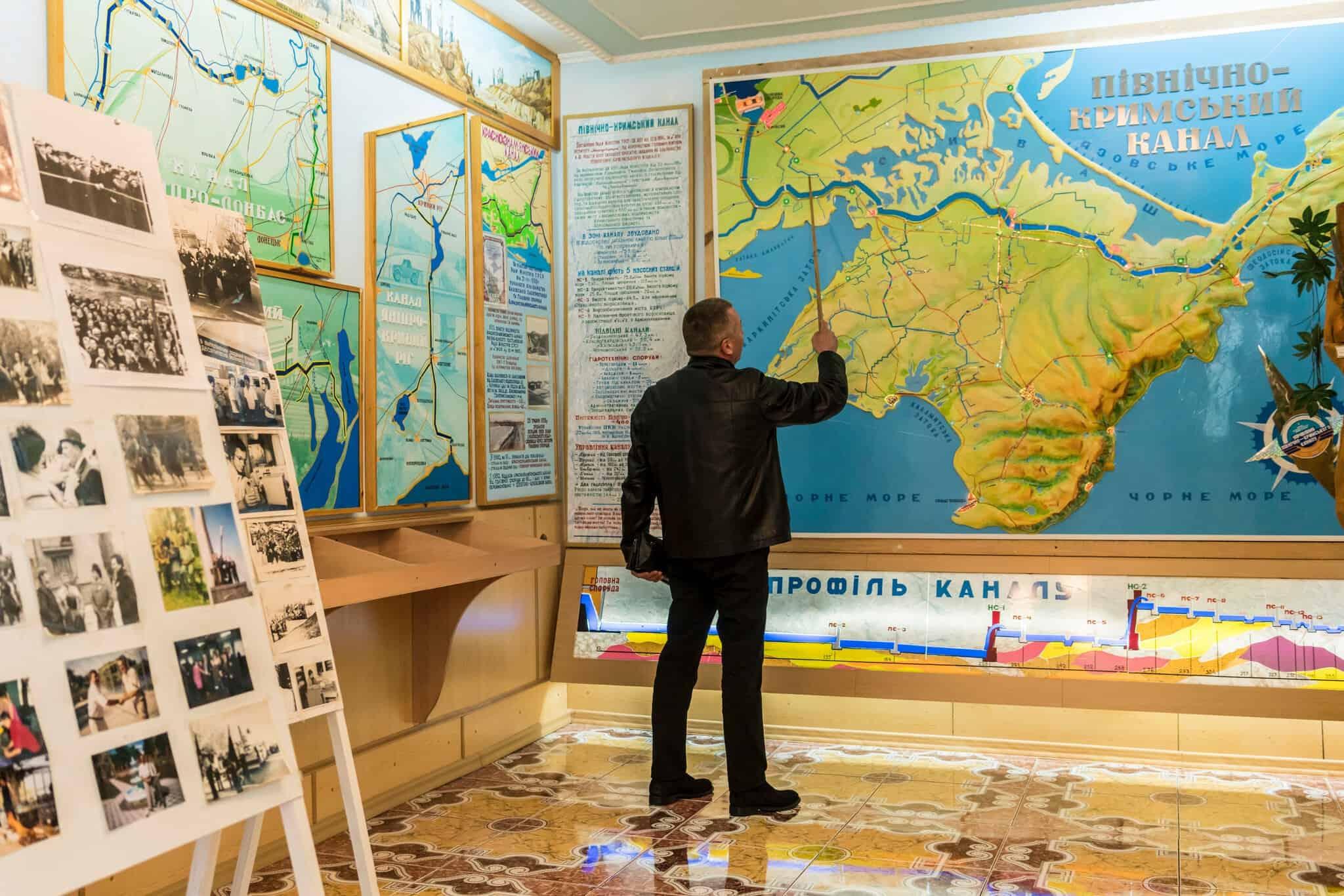 Схема канала в музее Новой Каховки.