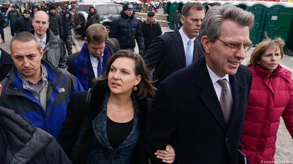 Виктория Нуланд и Джеффри Пайетт. Киев, 2014 год.